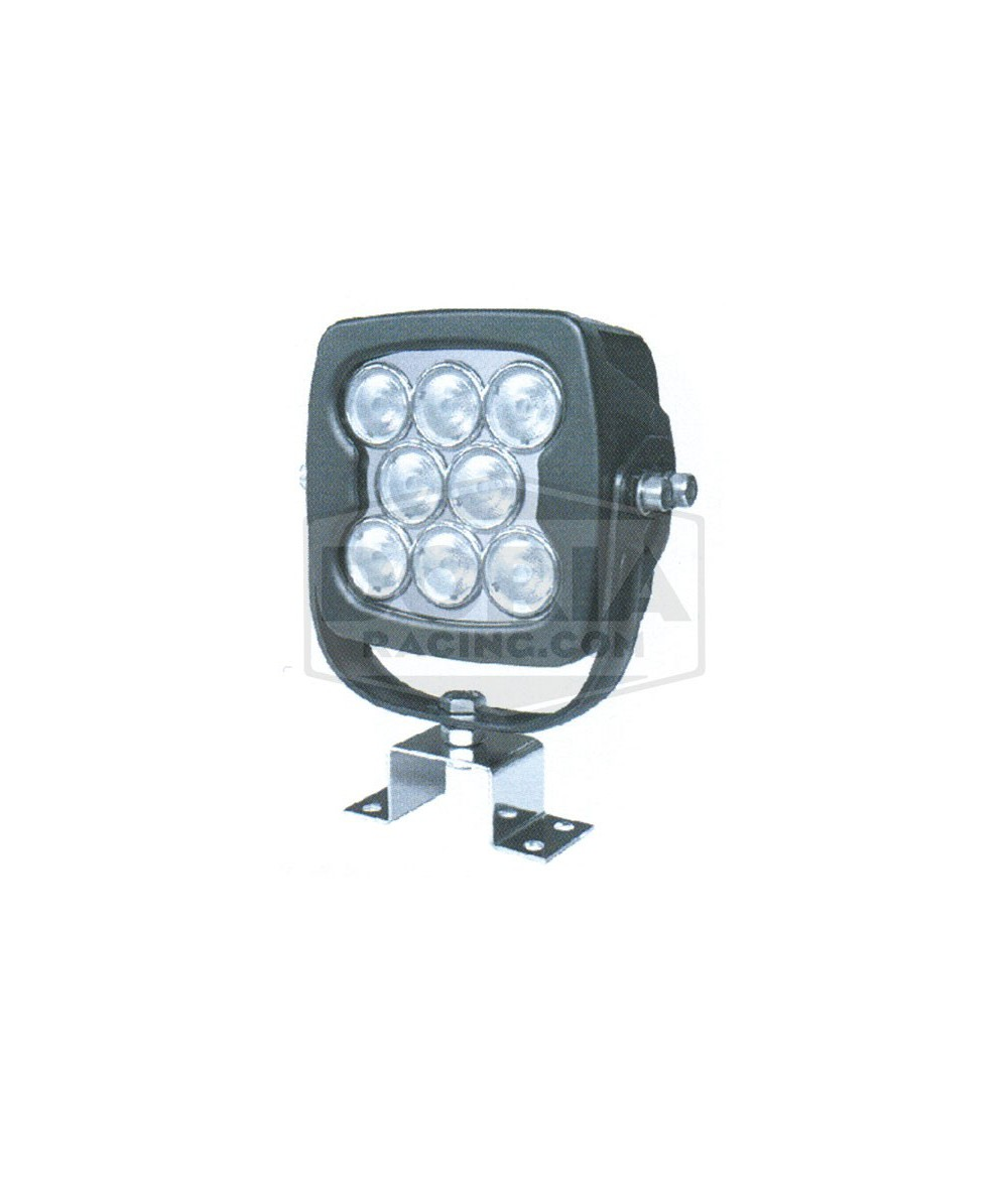 Foco cuadrado 8 LEDs sumergible IP67
