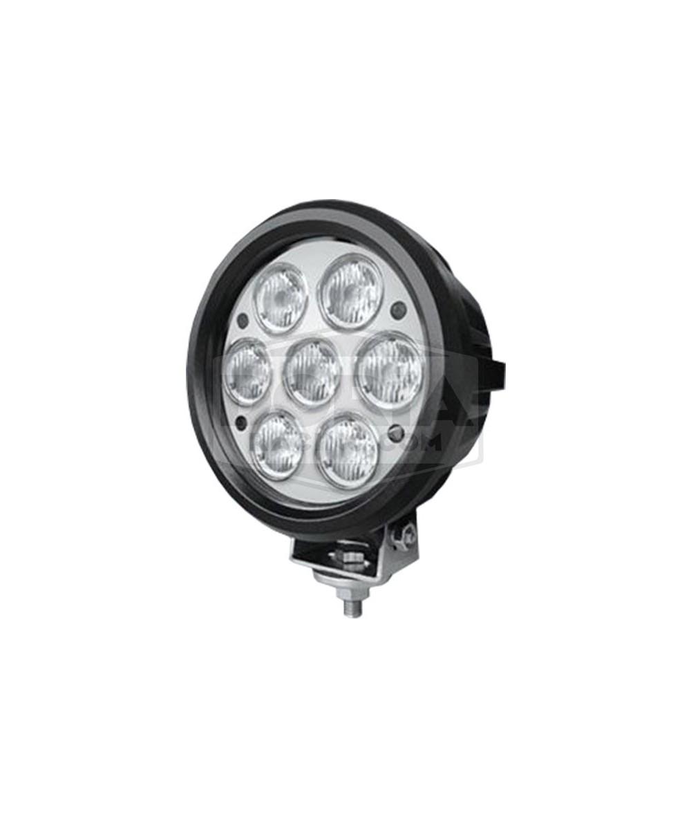 Foco redondo 7 LEDs Estanco