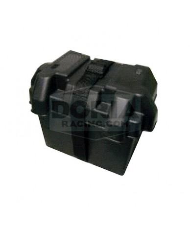 Cajas Portabaterías PVC negra con cincha