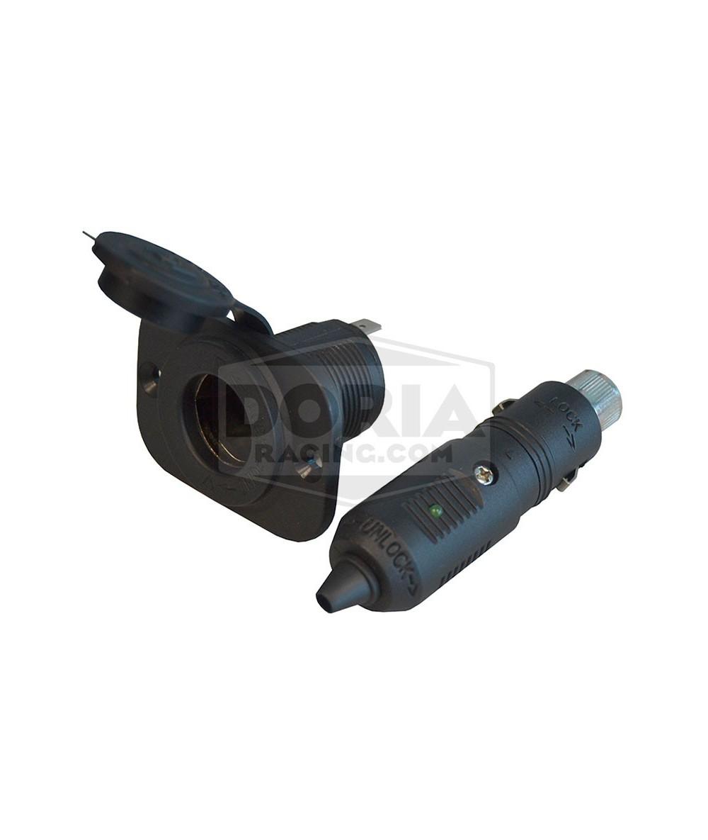 Conector 12V estanco con indicador Led