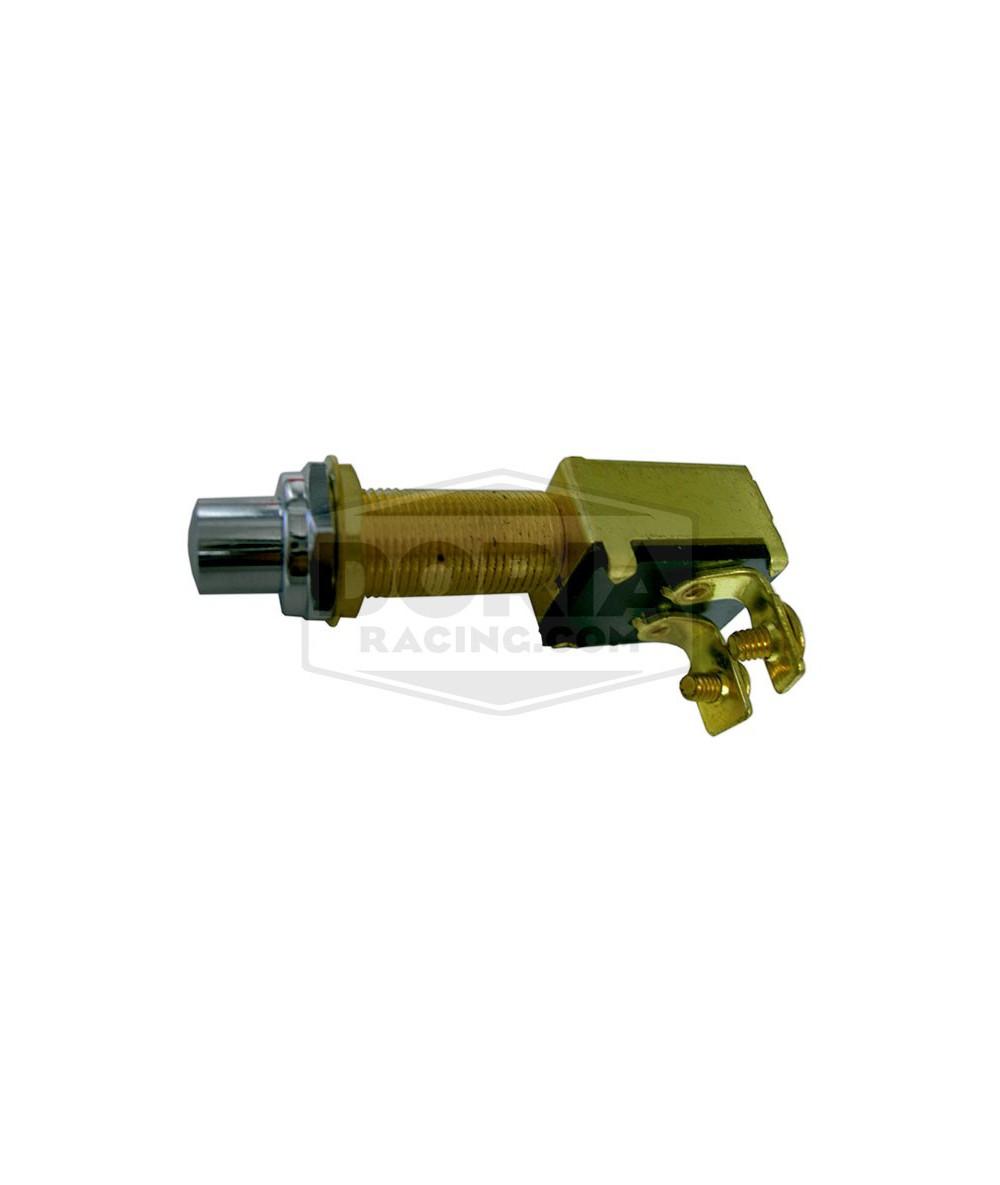 Interruptor de pulsador de latón cromado
