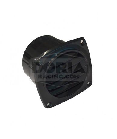 Rejilla negra 76mm diámetro