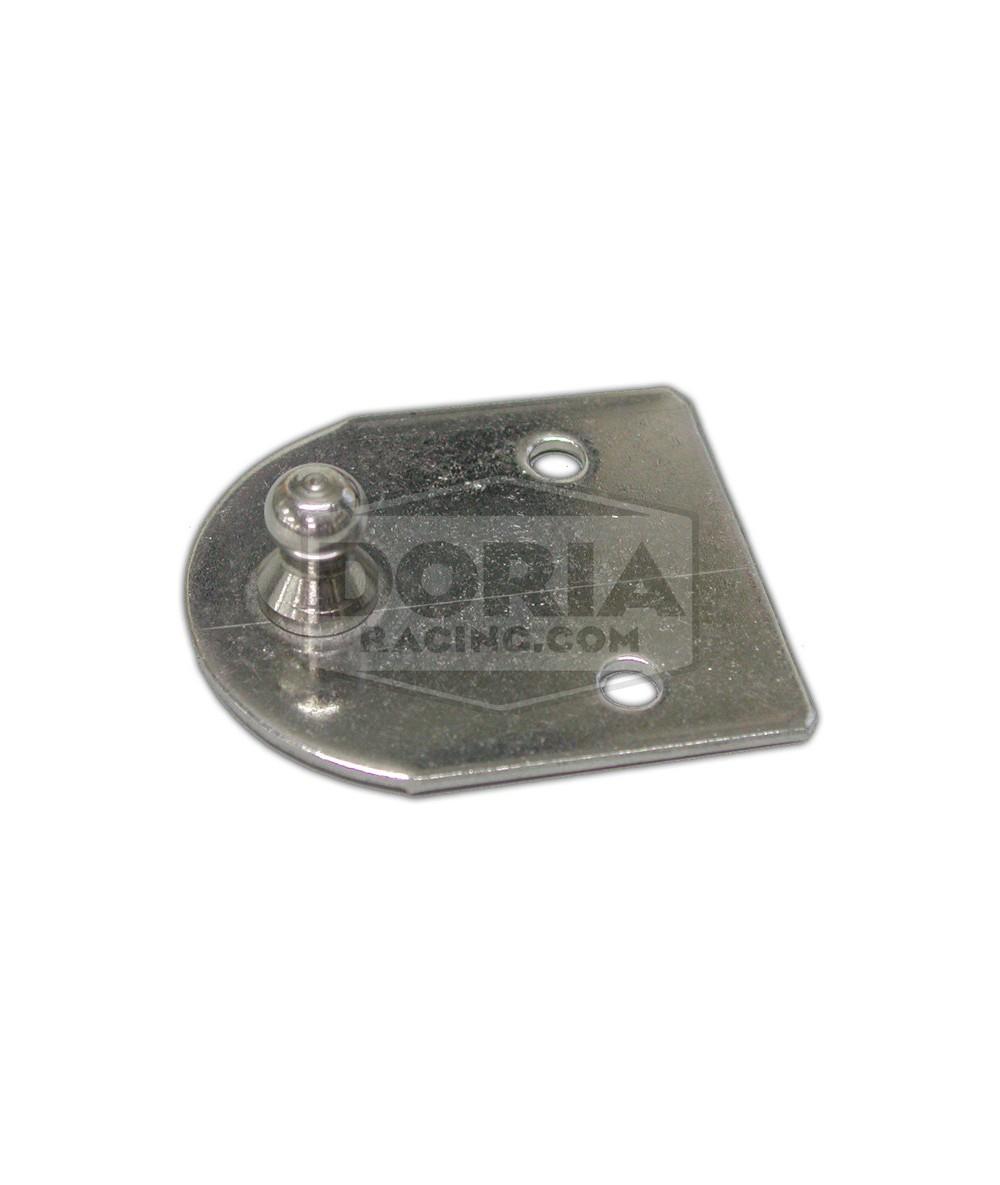 Soporte amortiguador plano con bola Ø10mm