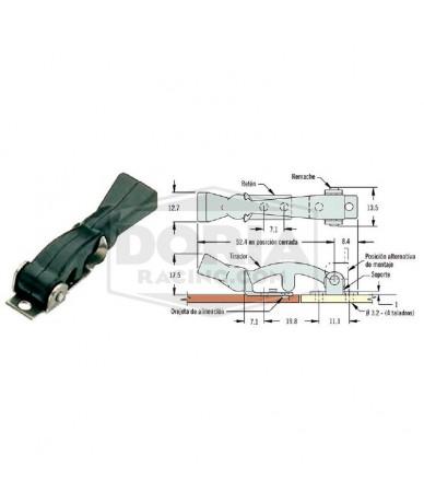 Cierre flexible 54mm con soporte