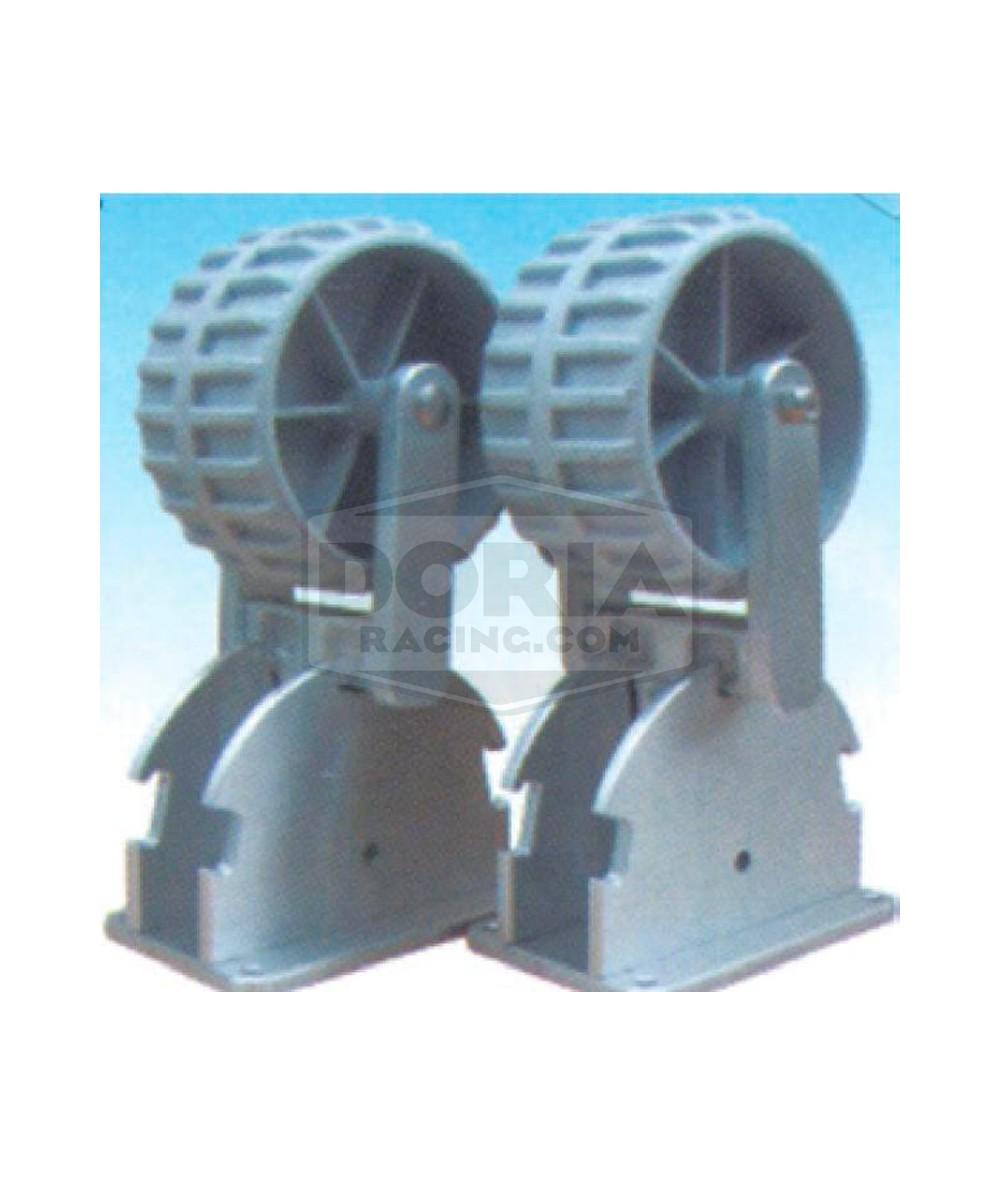 Rueda arrastre soporte aluminio
