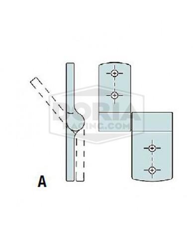 Bisagra zinc con control posicionamiento Mod.A